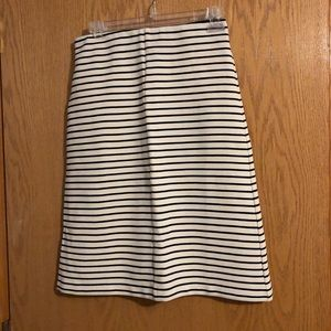 Black and Cream Tea Length Skirt